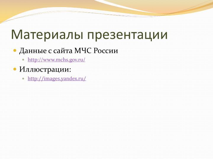 Материалы презентации