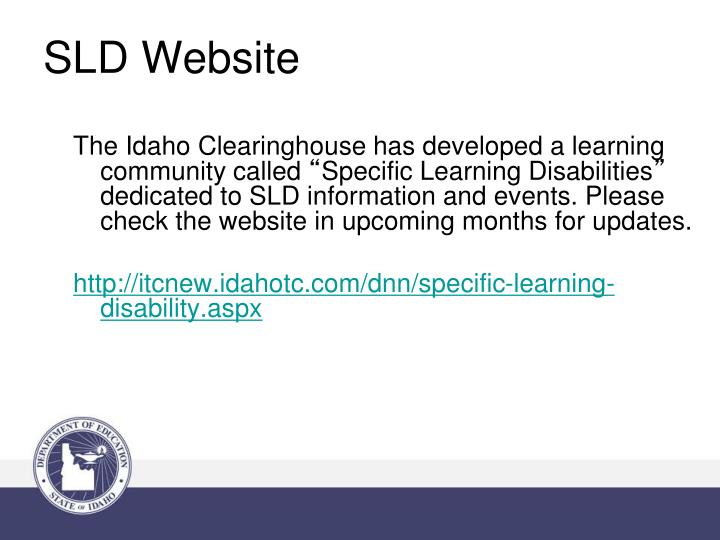 SLD Website