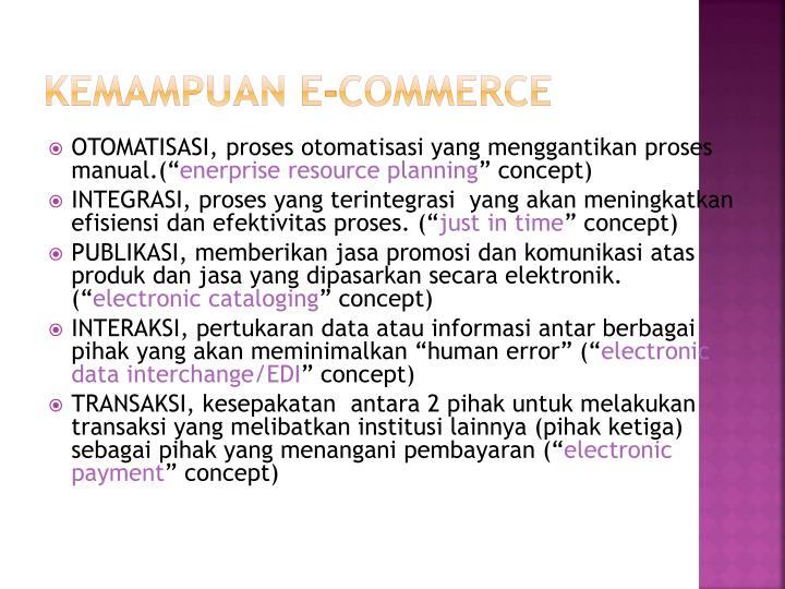 Kemampuan E-Commerce