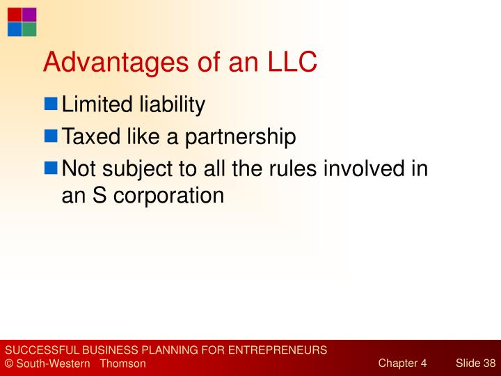 Advantages of an LLC