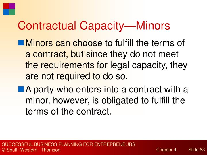 Contractual Capacity—Minors