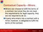 contractual capacity minors