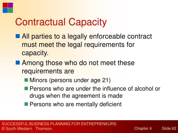 Contractual Capacity