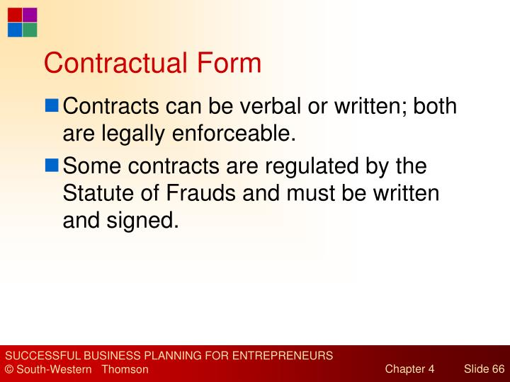 Contractual Form