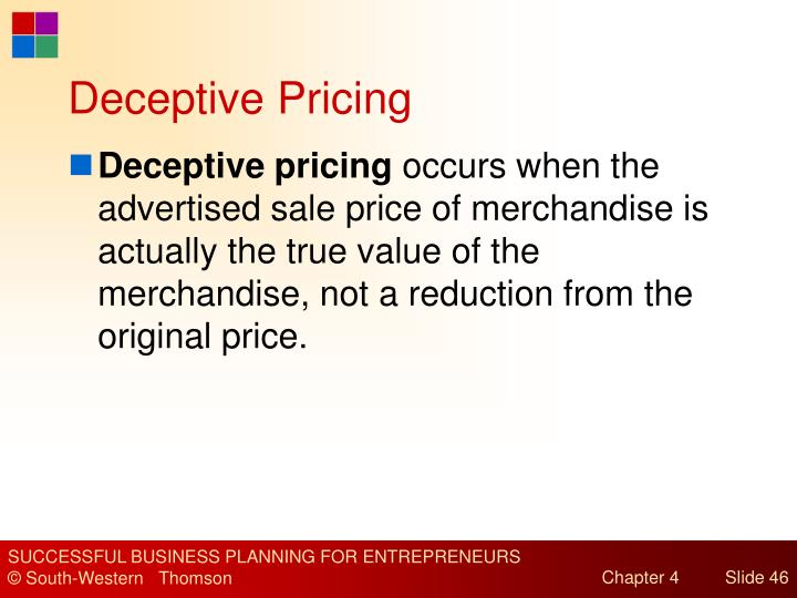 Deceptive Pricing