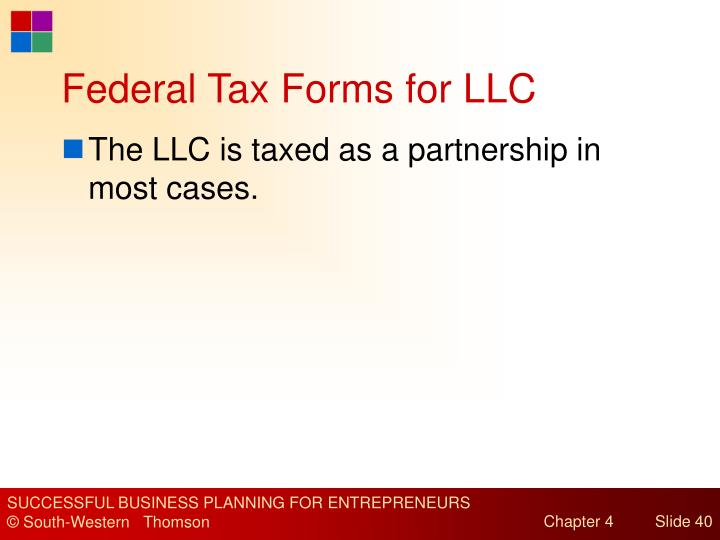Federal Tax Forms for LLC