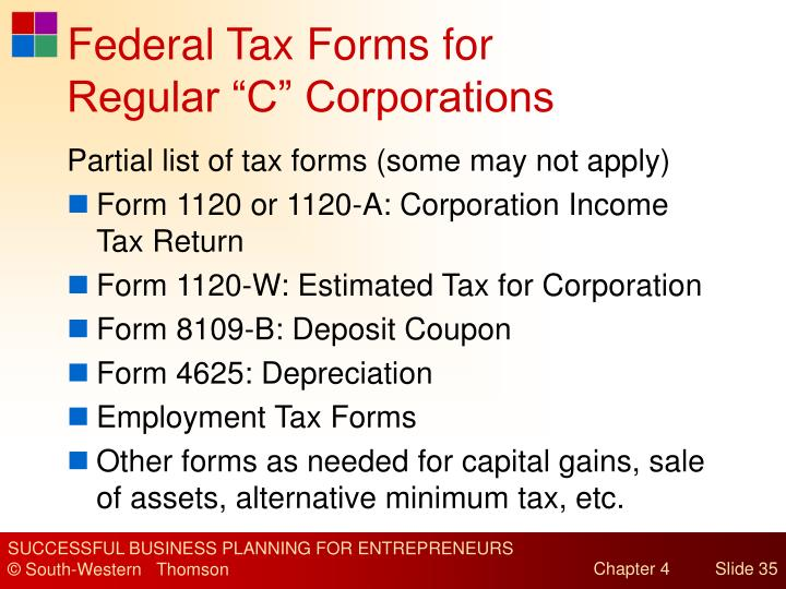 Federal Tax Forms for