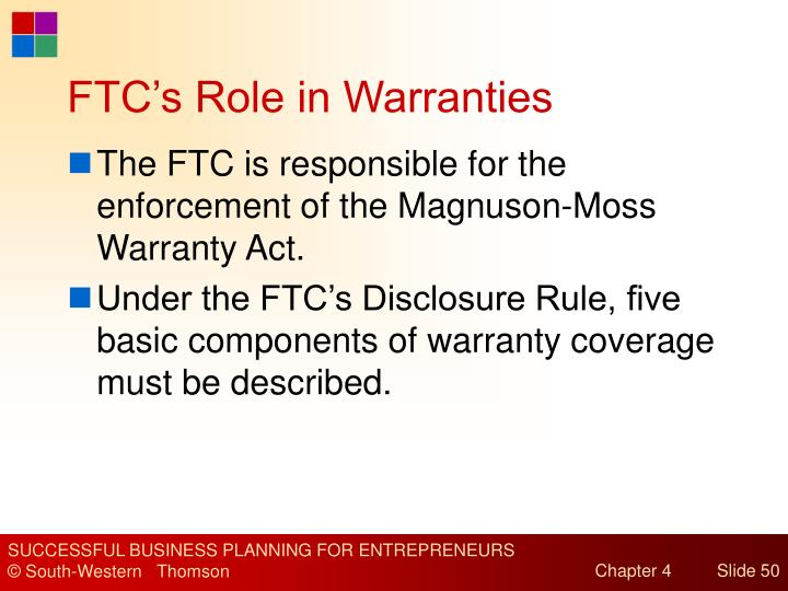 FTC's Role in Warranties