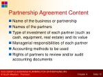partnership agreement content