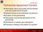 partnership agreement content1