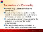 termination of a partnership