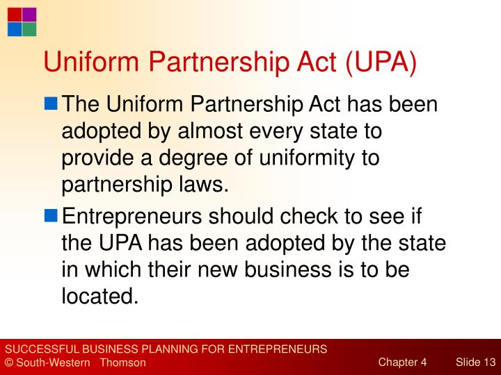 Uniform Partnership Act (UPA)