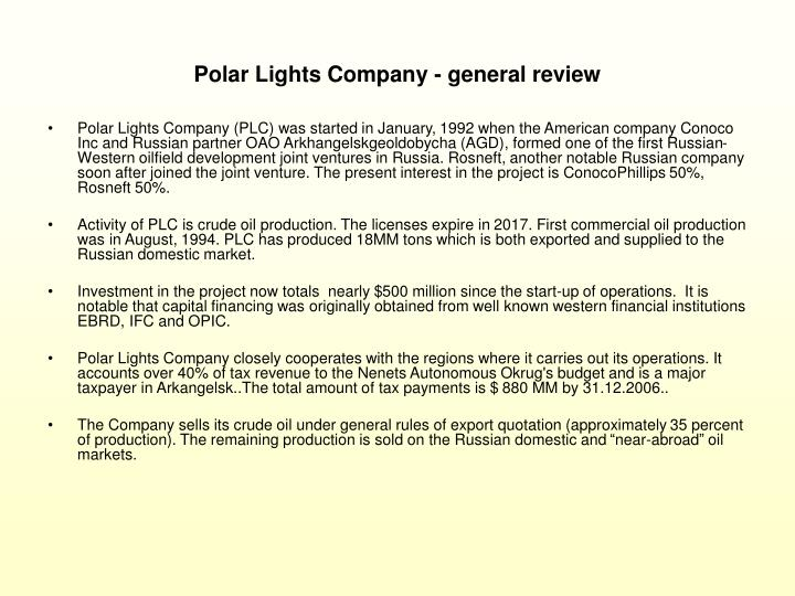 Polar Lights Company - general review