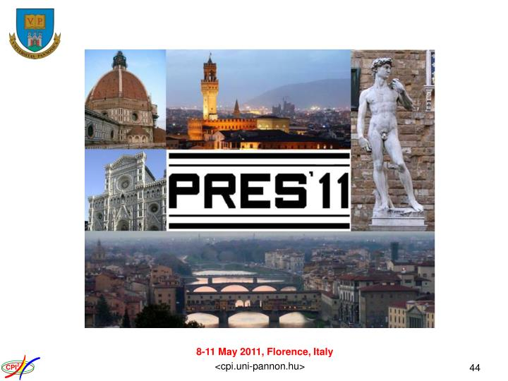 8-11 May 2011, Florence, Italy