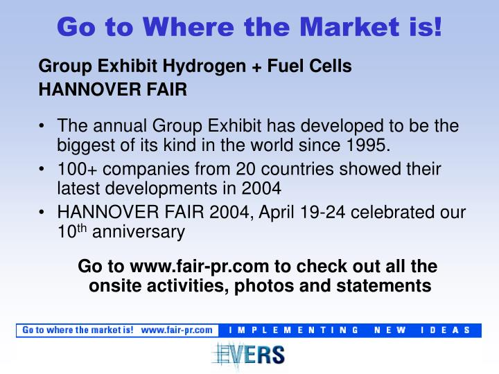 Group Exhibit Hydrogen + Fuel Cells