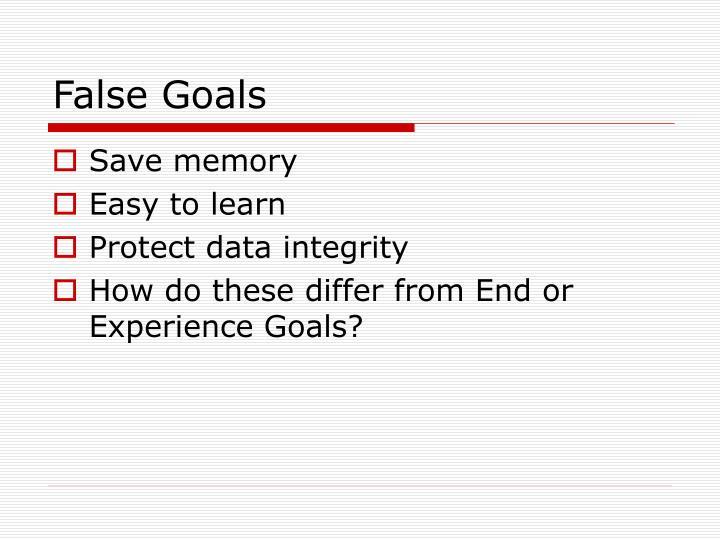 False Goals