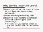 who are the important users