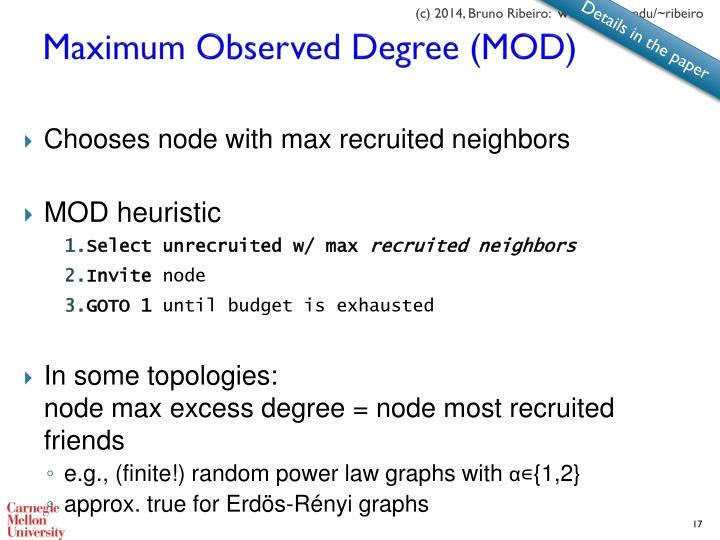 Maximum Observed