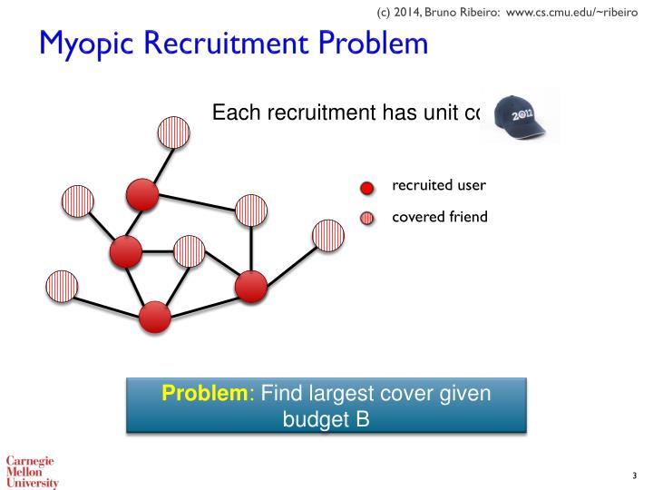 Myopic Recruitment Problem