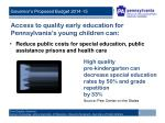 access to quality early education for pennsylvania s young children can