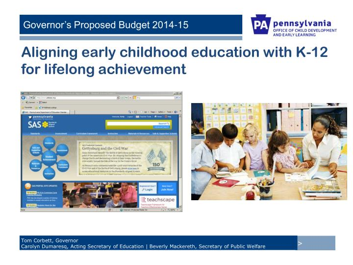 Aligning early childhood education with K-12 for lifelong achievement
