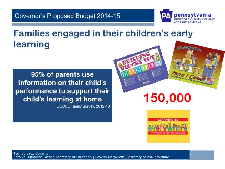 Families engaged in their children's early learning