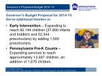 governor s budget proposal for 2014 15 serve additional families in1