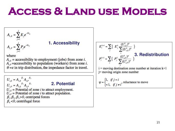 Access & Land use Models