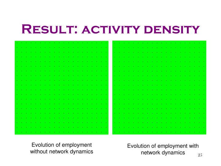 Result: activity density