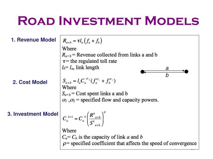 Road Investment Models