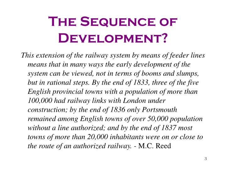 The Sequence of Development?