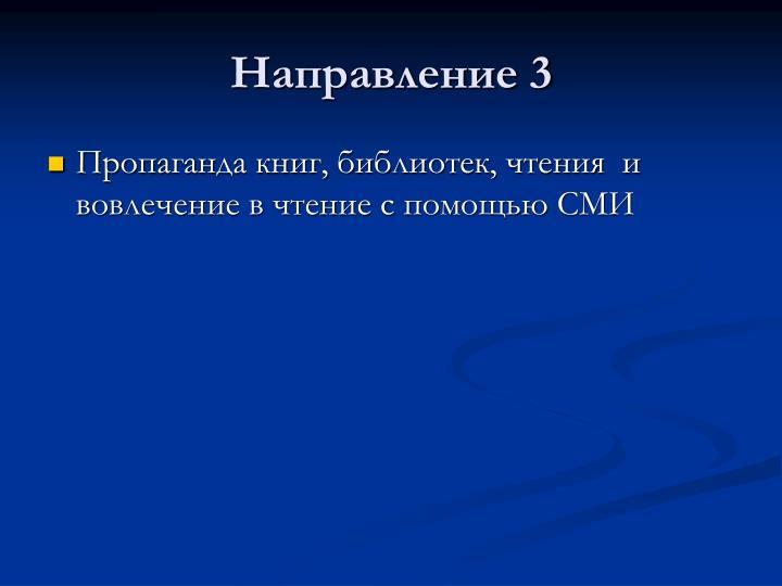 Направление 3
