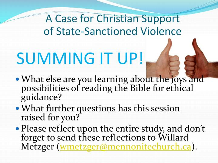 A Case for Christian Support