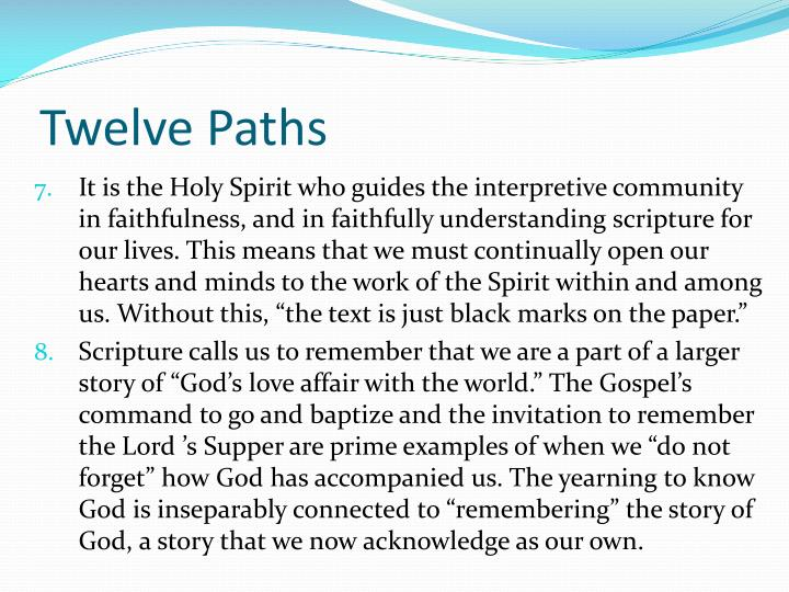 Twelve Paths