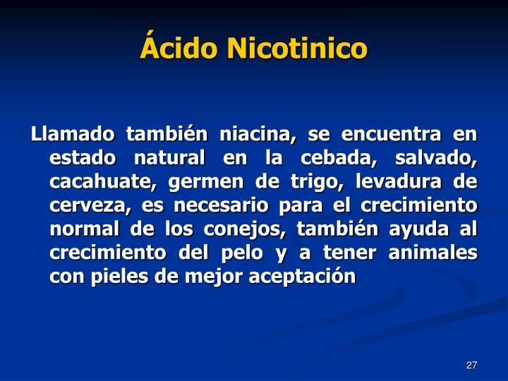 Ácido Nicotinico