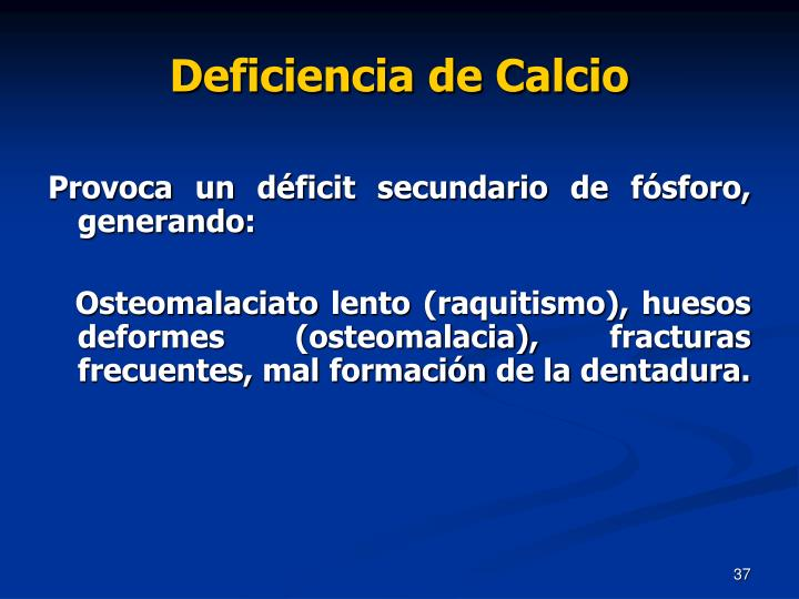 Deficiencia de Calcio