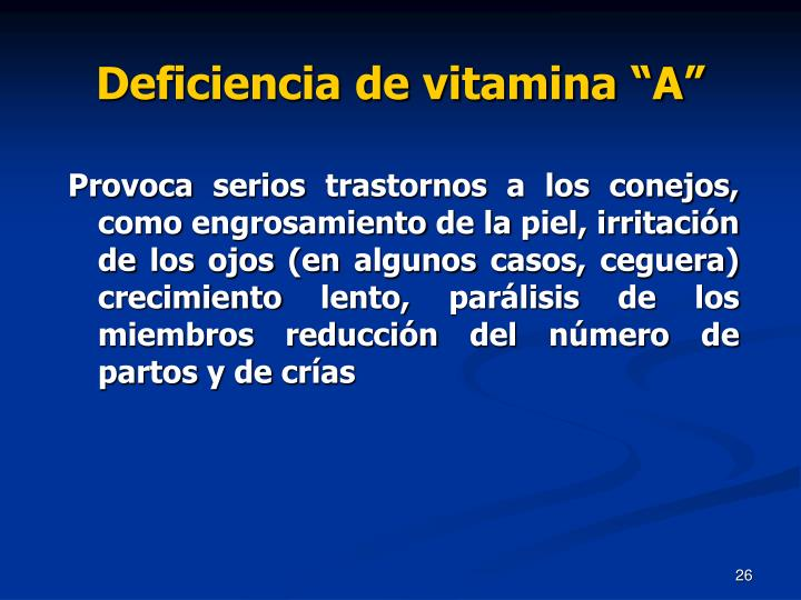 "Deficiencia de vitamina ""A"""
