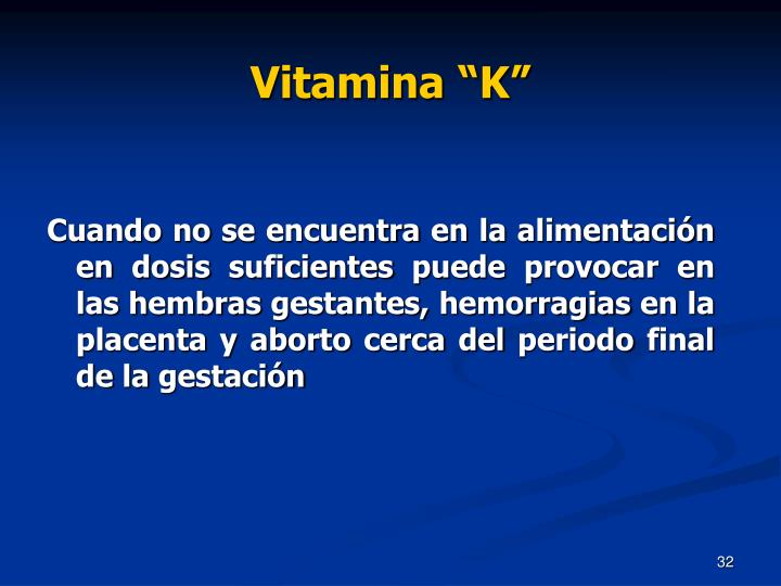 "Vitamina ""K"""