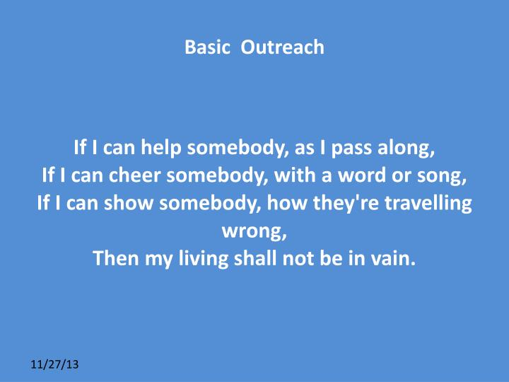 Basic  Outreach