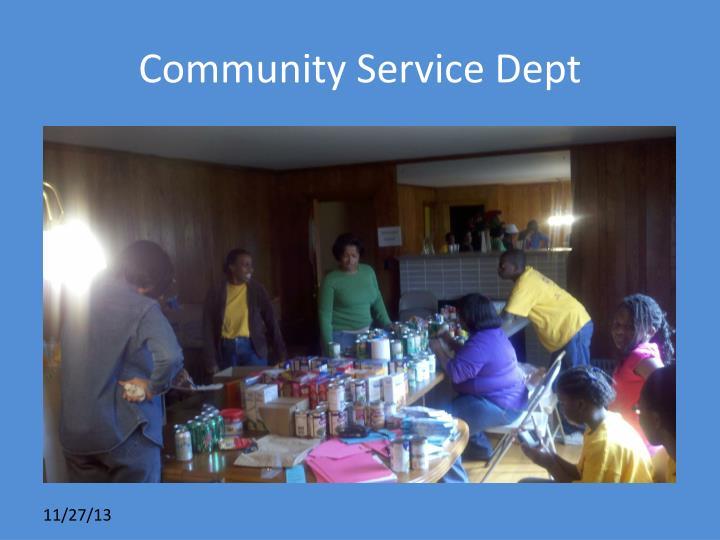 Community Service Dept
