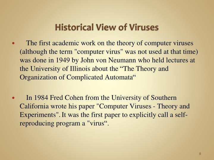 Historical View of Viruses