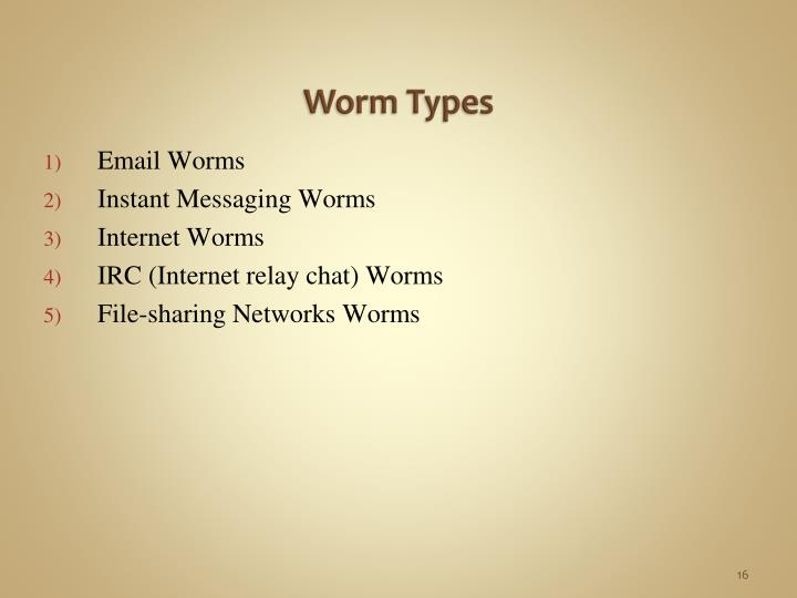 Worm Types