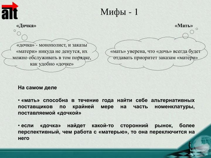 Мифы - 1