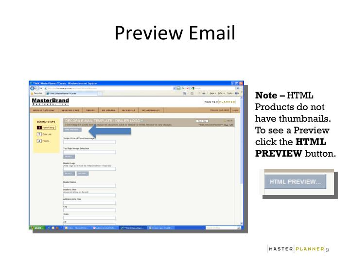 Preview Email
