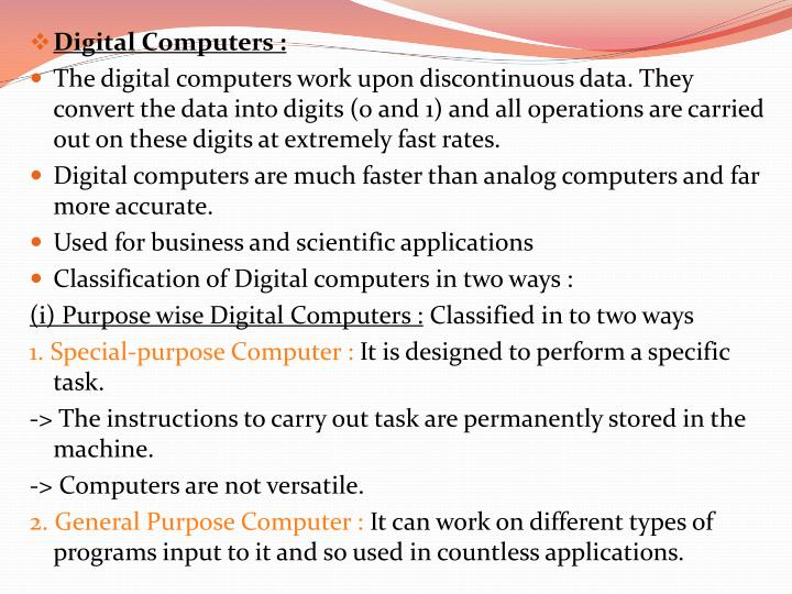 Digital Computers :