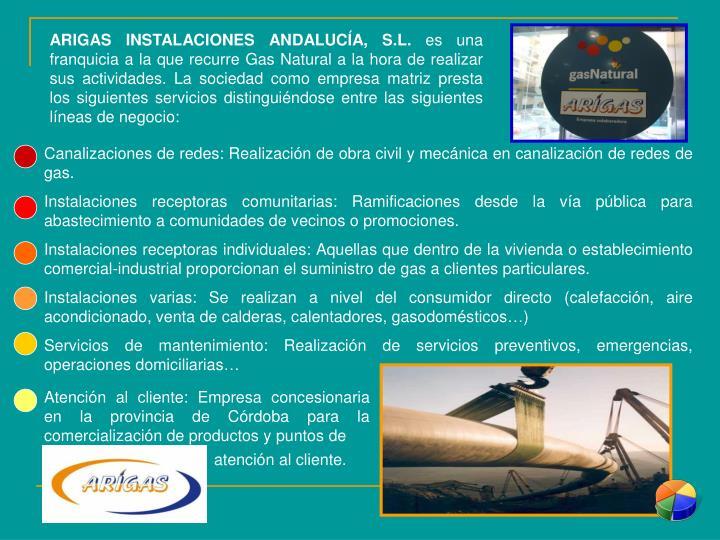 ARIGAS INSTALACIONES ANDALUCÍA, S.L.
