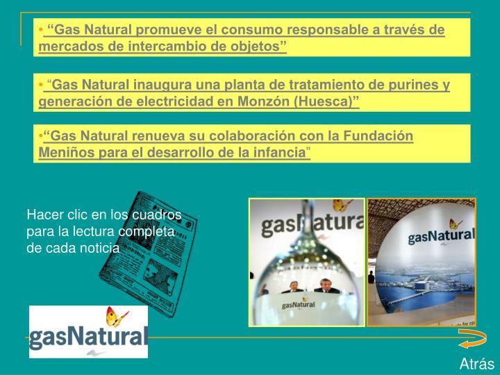 """Gas Natural promueve el consumo responsable a través de mercados de intercambio de objetos"""