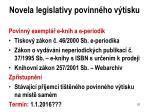 novela legislativy povinn ho v tisku