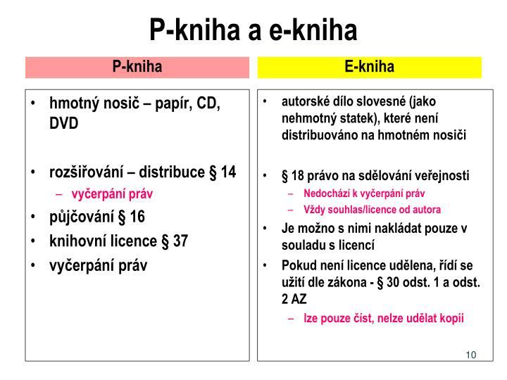 P-kniha a e-kniha