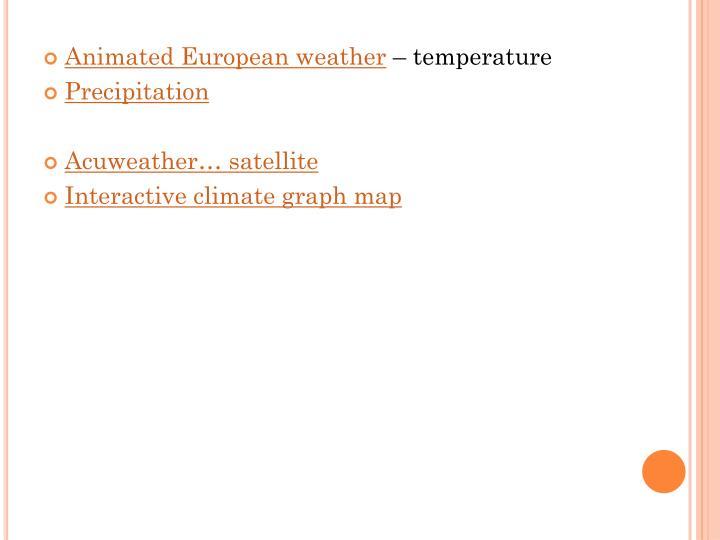 Animated European weather